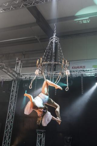 Akrobacje na żyrandolu